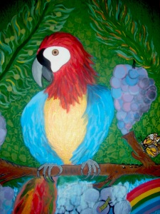 Parrot Painting 011